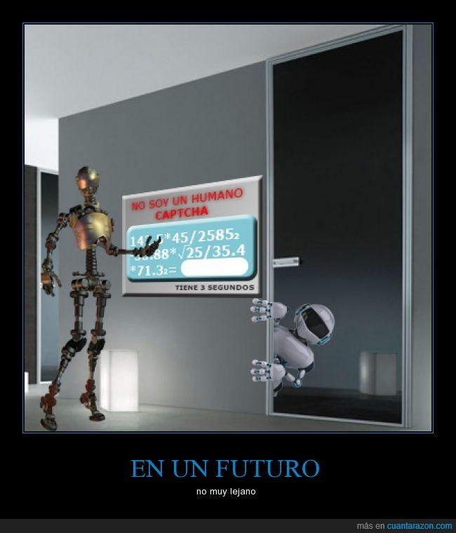 captcha,futuro,no soy humano,no soy un robot,robot,robots