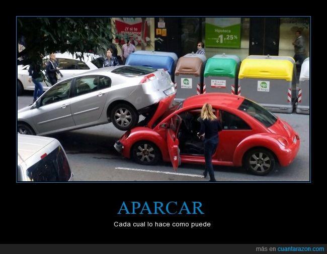 accidente,aparcar,Coche,encima