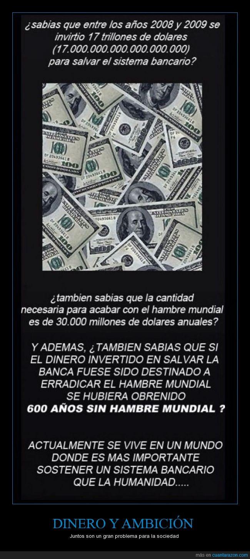 ambición,banca,bancario,banco,Dinero,hambre,mundo,salvar