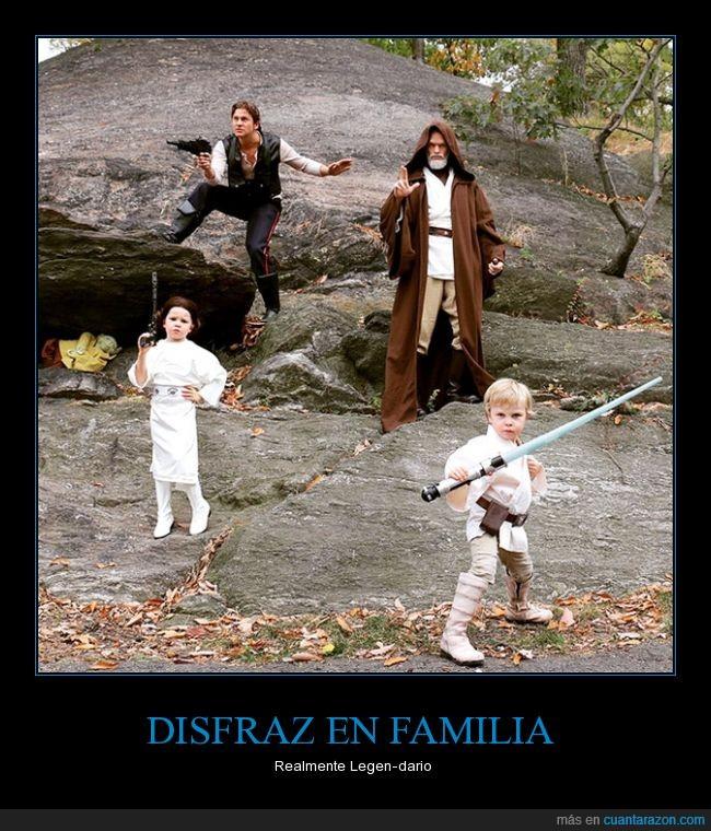 2015,disfraz,familia,halloween,legendario,lo volvió a hacer,Neil Patrick Harris,Star Wars