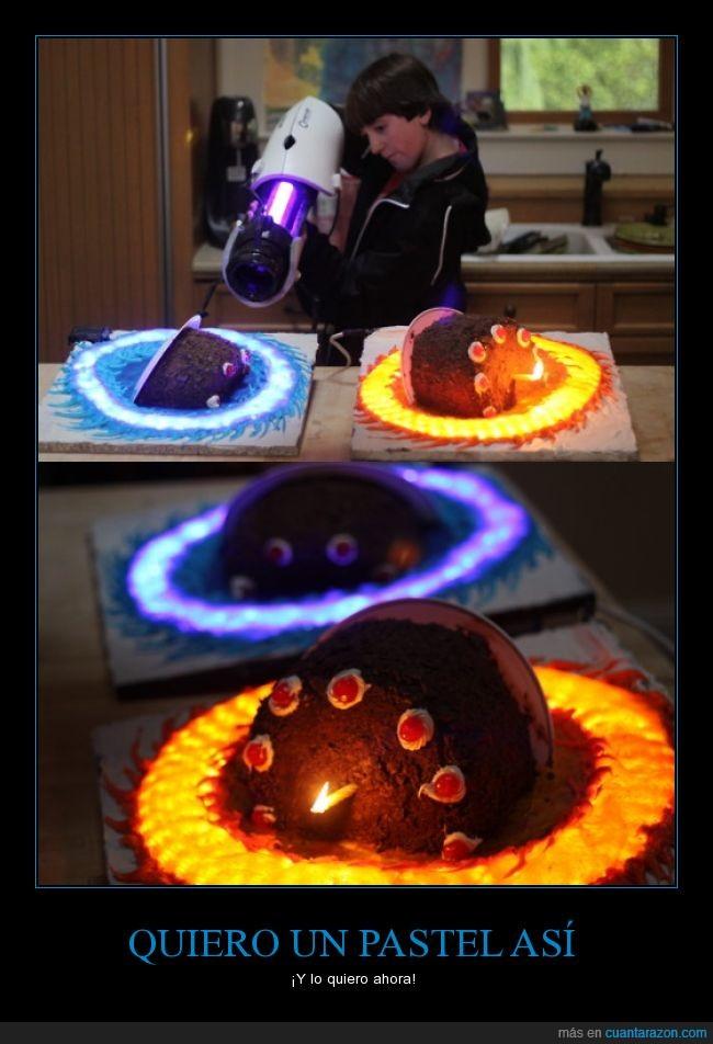 lo que cualquier gamer quiere para su cumpleaños,mitad,original,pastel,portal,tarta
