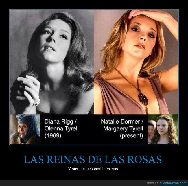 Diana Rigg,Game of thrones,GOT,JDT,Juego de Tronos,Margaery Tyrell,Natalie Dormer,Olenna Tyrell,reinas de las rosas