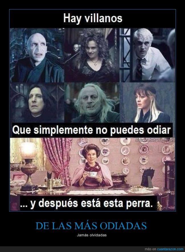 Bellatrix Lestrange,Cissy,Dolores Umbridge,Draco Malfoy,Harry Potter,Lucius Malfoy,Narcissa Malfoy,odiar,odio,Snape,villano,Voldemort