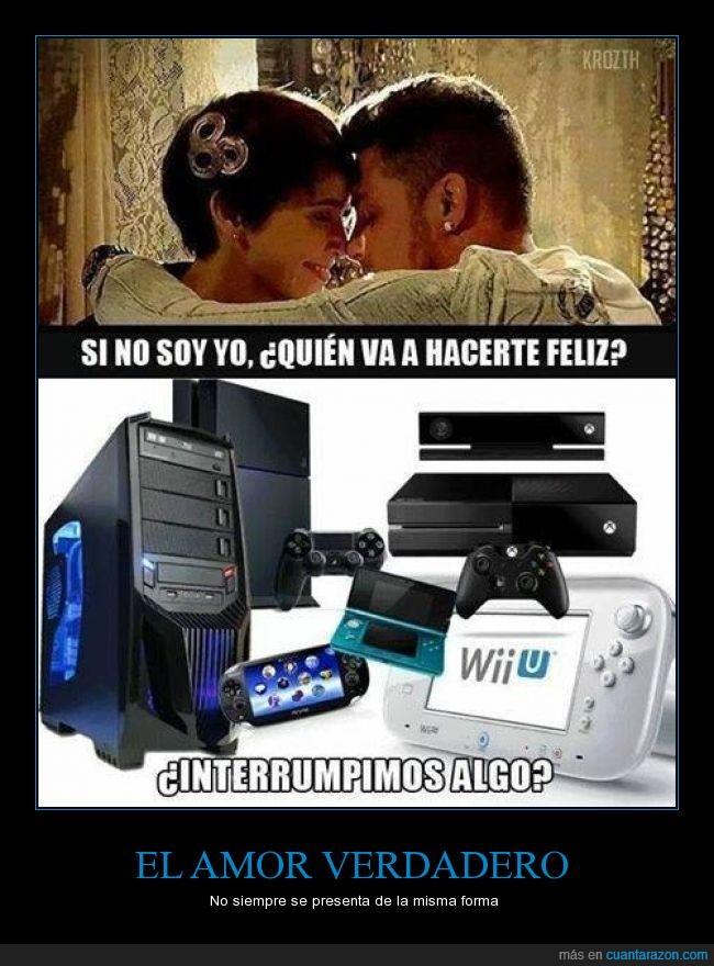 amar,amor,consola,felicidad,feliz,gamer,hacer,pc,playstation,ps4,querer,quien,videojuego,wii u,xbox one