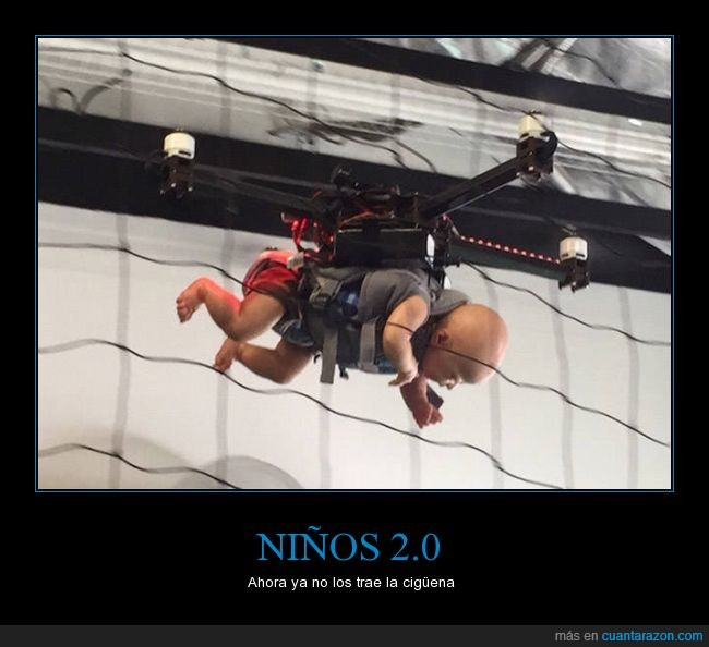 2.0,bebe,cigüeña,dron,niño,traer