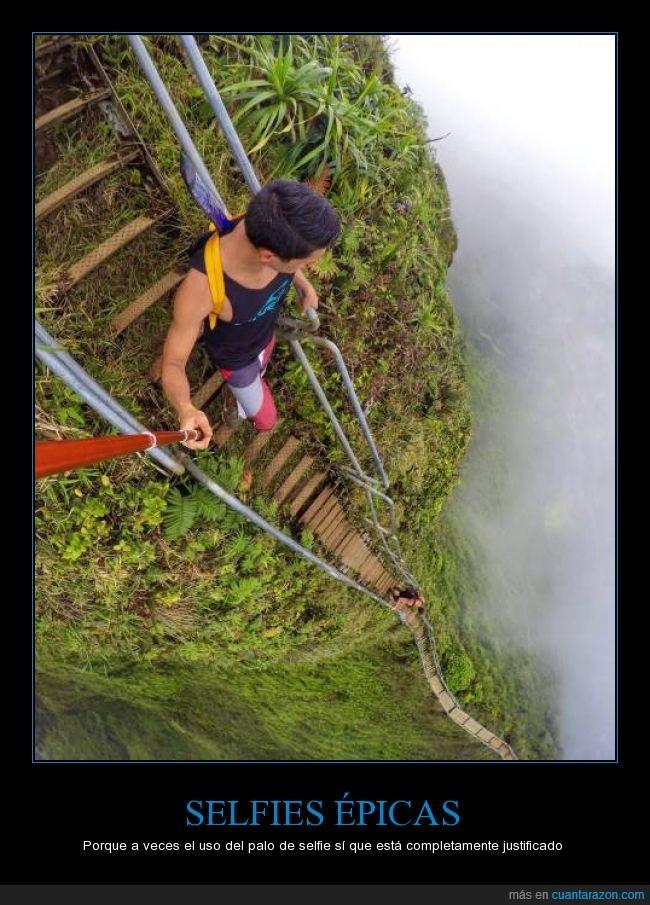 altura,bajar,descenso,escalera,palo,selfie,vertigo