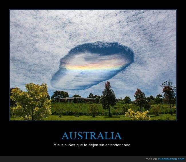 agujero,arcoíris,australia,boquete,cielo,nube