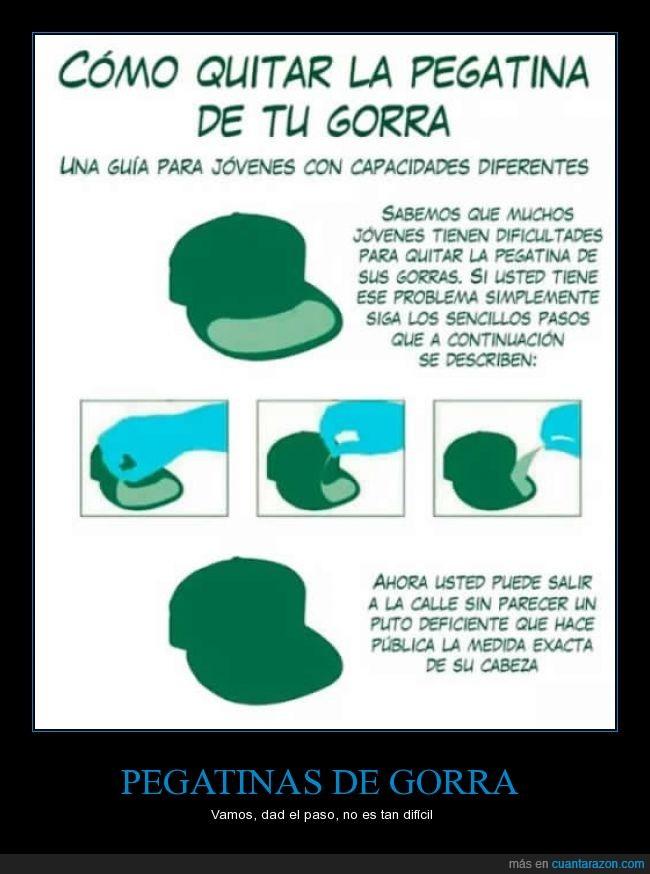 10f7297ba127e Cuánta razón!   PEGATINAS DE GORRA