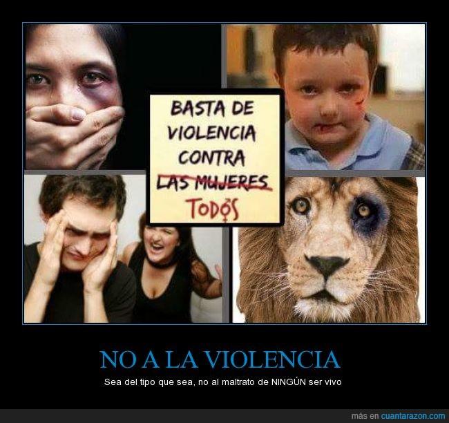 animal,dolor,hombre,igualdad,maltrato,mujer,niño,no solo a las mujeres,violencia,violento