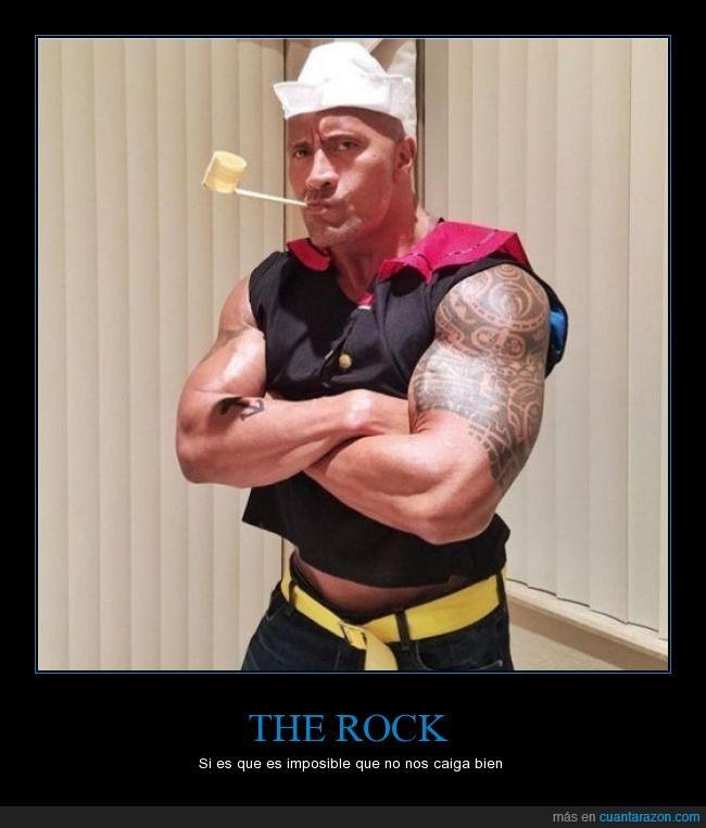 actor,disfraz,Dwayne Johnson,luchador,Popeye,The rock