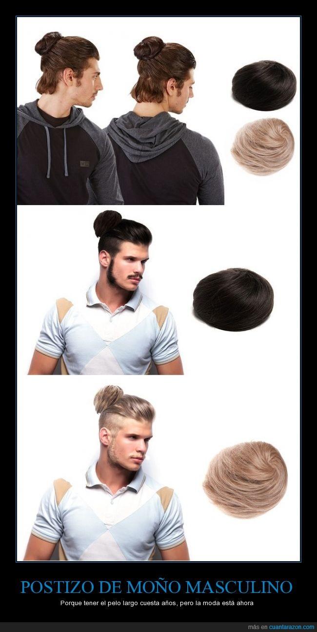 bun,extensión,hombre,masculino,moño,pelo,postizo