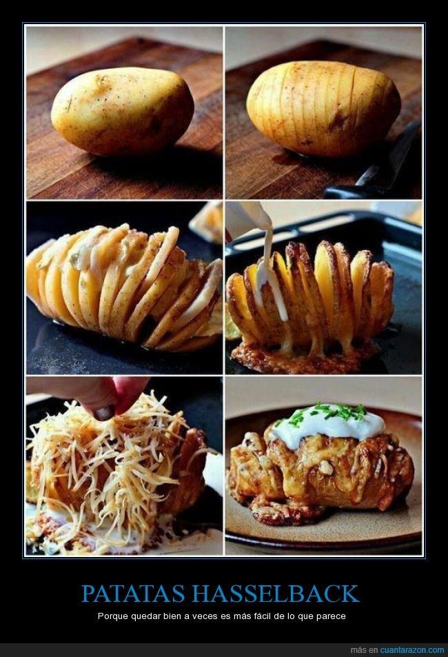 hasselback,horno,no puedo dejar de pensar en David Hasselhoff,patata,receta