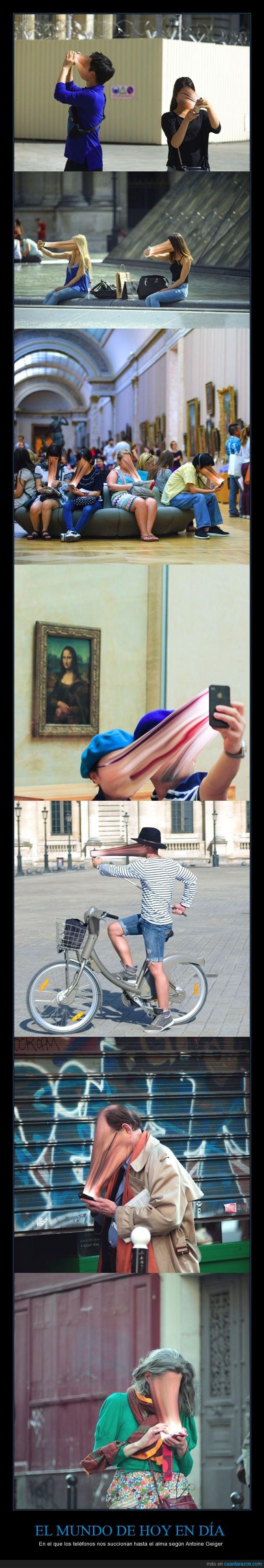 alma,Antoine Geiger,cara,chupar,fotografía,robar,succionar,telefono
