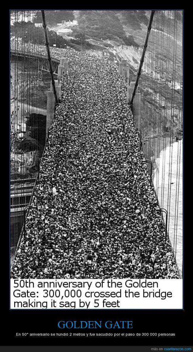 300000,aniversario,Golden gate,hundir,personas,puente