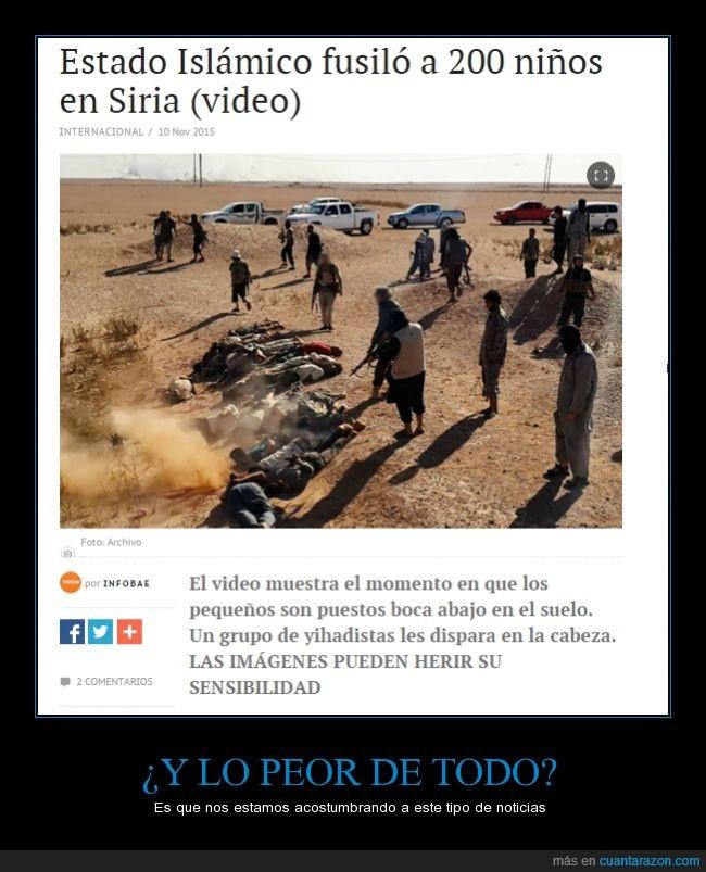 200 niños,agosto,ejecutados,Estado Islamico,fanaticos,Islam,religiosos,Siria