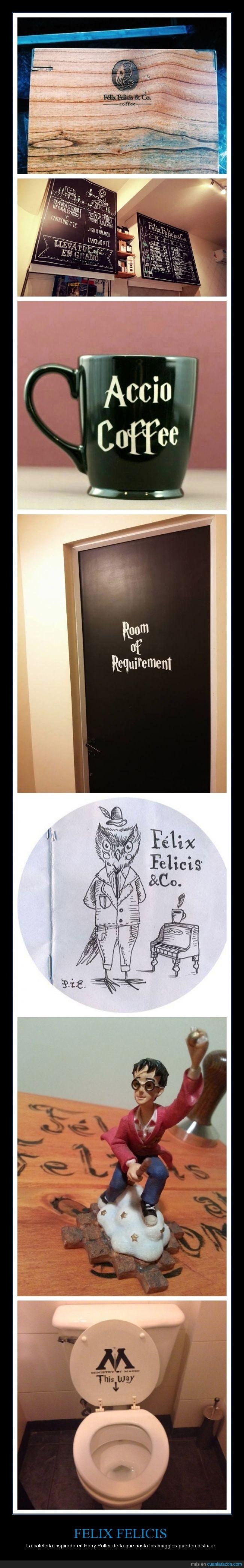 Argentina,cafetería,Felix Felicis,Harry Potter,muggles