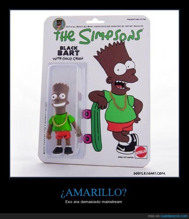 amarillo,Bart Simpson,color,falso,juguete,marron,negro