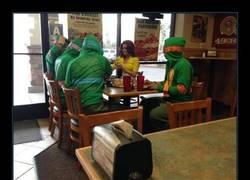 Enlace a Son las fabulosas Tortugas ninja... ¡Y April!