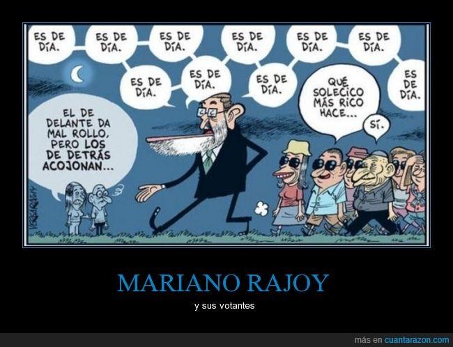detrás,dia,engañado,MAriano Rajoy,mentira,noche,partido popular,pp,seguidores,votante,votar