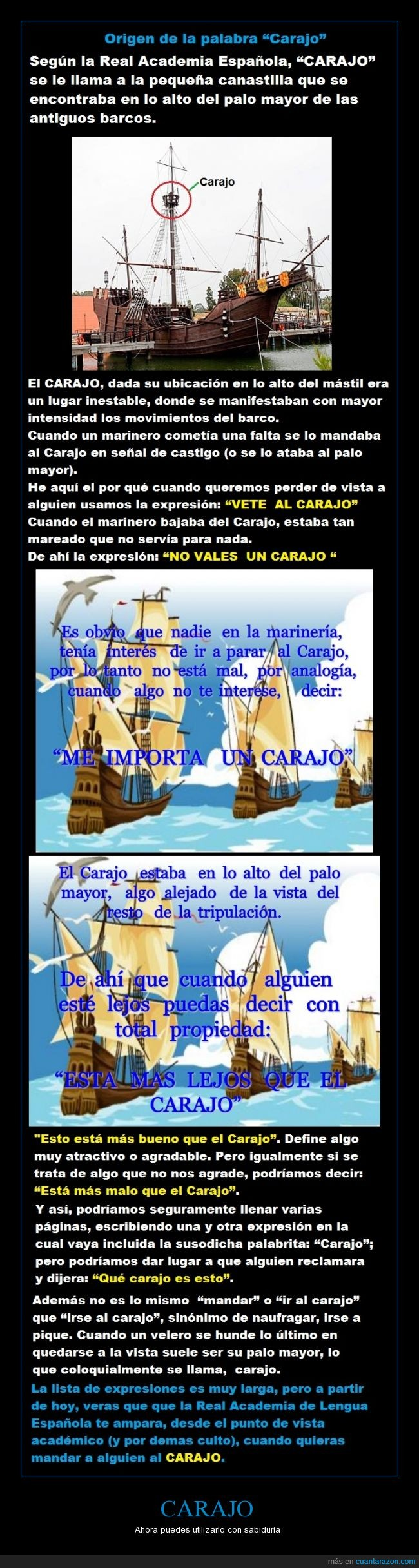 barco,carajo,expresión,marinero,origen,vela