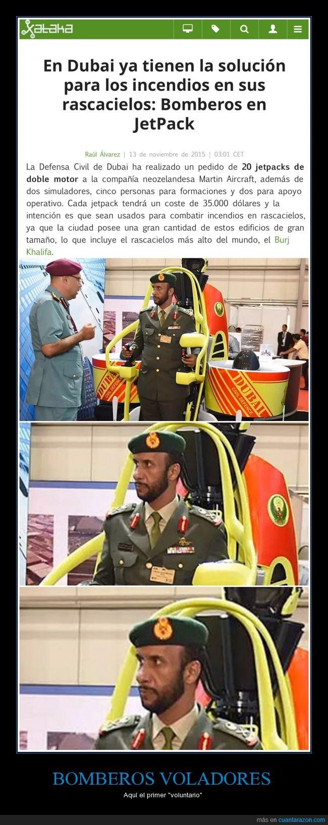 bombero,Dubai,Jetpack,me quiero ir,rascacielos,voluntario