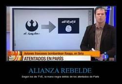 Enlace a Confunden un símbolo de Star Wars con uno yihadista en TVE. VAYA TELA.