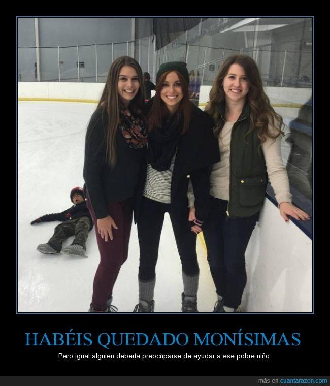 caer,caido,chicas,foto,hielo,mala cara,niño,patinaje,patinar,pista,skate,suelo