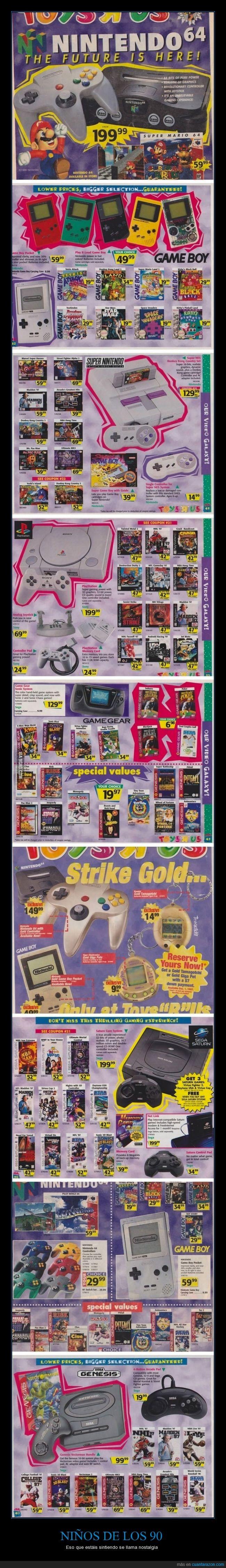 90's,90s,consola,Gameboy,gamegear,genisis,infancia,juego,megadrive,n64,niño,nintendo,noventa,playstation,saturn,sega