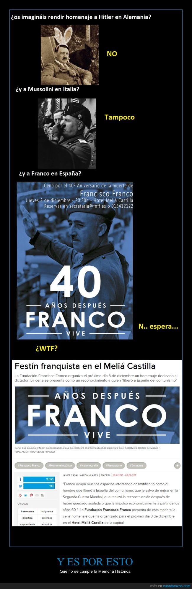 dictador,Franco,Meliá Castilla,Memoria histórica,No entiendo porque esta fundación es legal