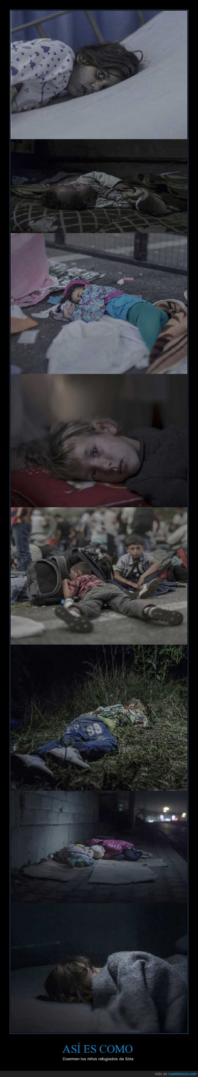 dormir,guerra,niños,refugiados,siria,tristeza