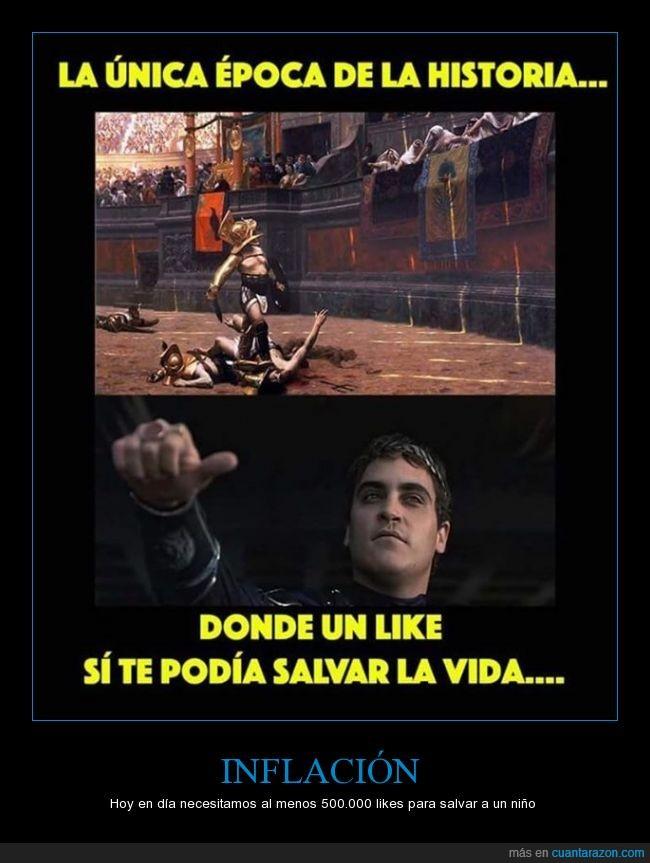 antiguedad,facebook,gladiador,historia,humor,likes,redes sociales,roma