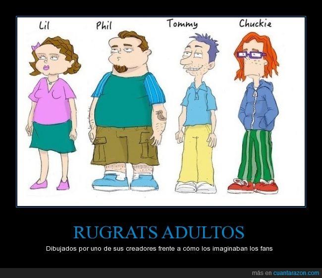 animación,Carlitos/Chukie,crecer,dibujos,Eric Molinsky. quien los dibujó adultos,Lil,no quieres saber lo Hipster que los fans habían dibujado a Carlitos,Phil,Rugrats,Rugrats adultos,tatuaje de pato,Tommy