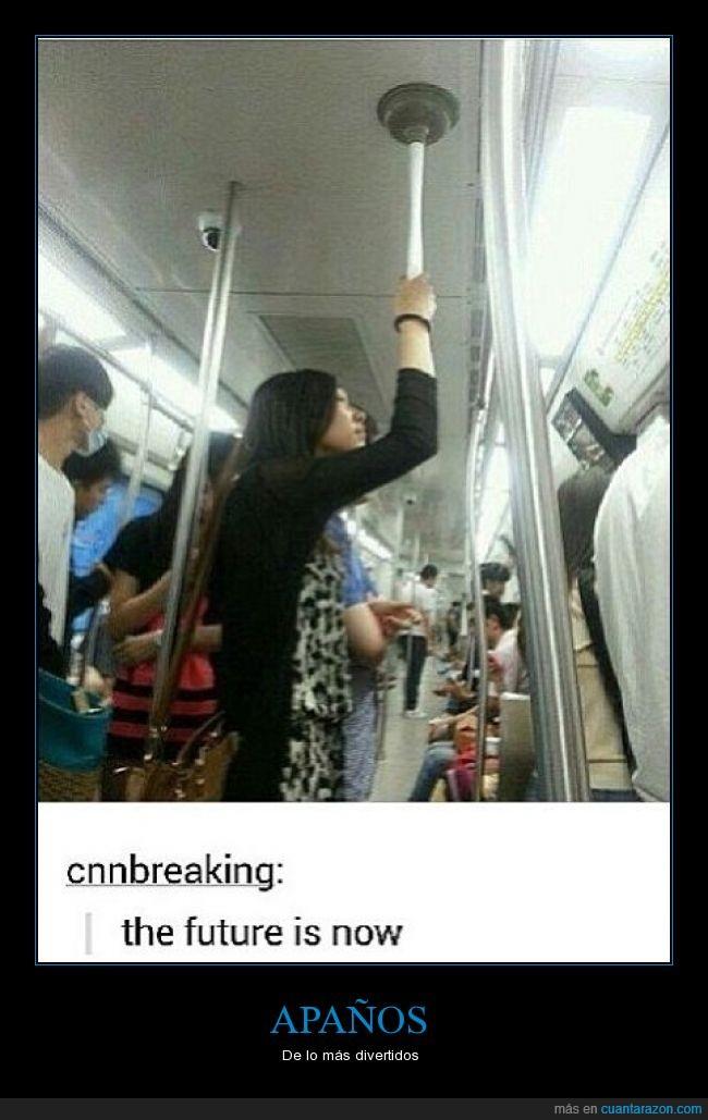 asiatica,chica,comodidad,desatascador,escobilla,future,metro,now,techo,tren