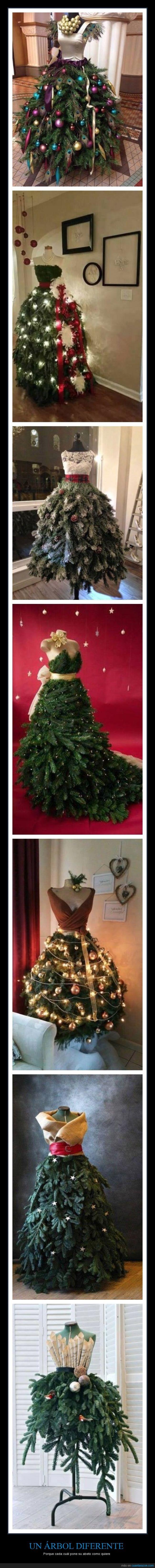 abeto,arbol,camiseta,decoración,falda,maniquí,Navidad,vestido