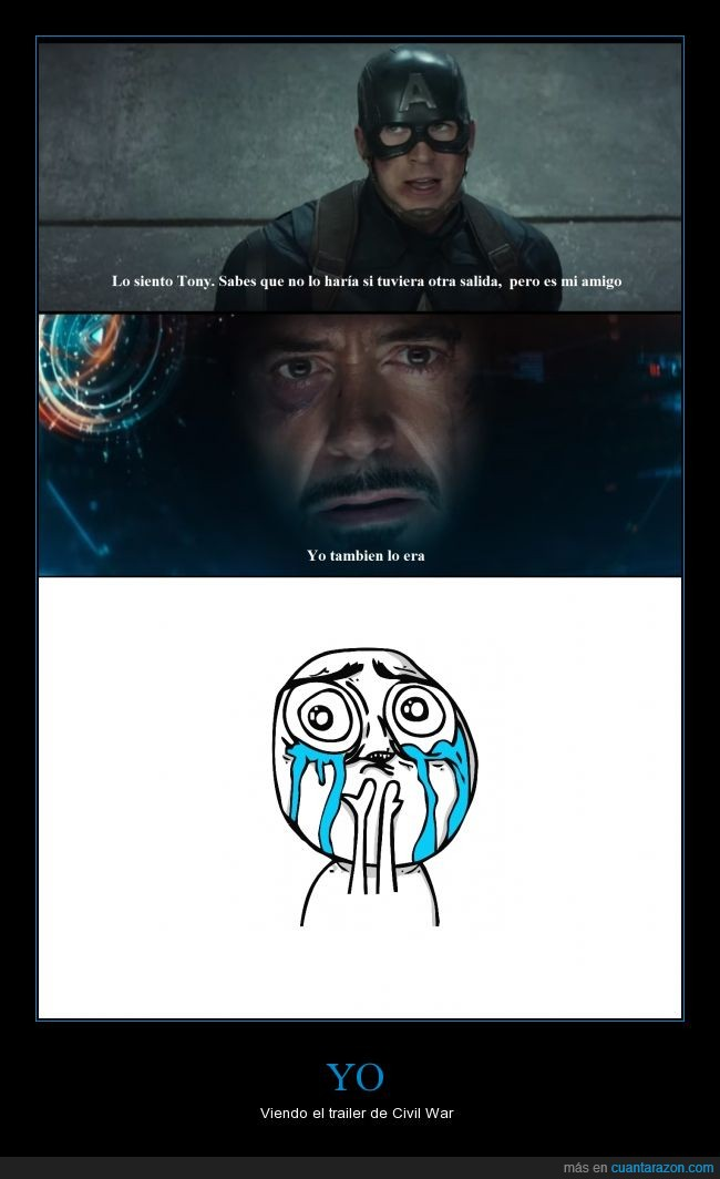 Capitan America,Civil War,DC,Iron Man,Los Vengadores,Marvel,Pongo DC por tocar las narices,Strak,Tony Stark,YouTube
