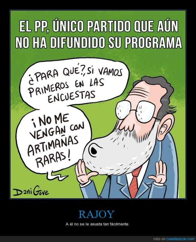 Dani Gove,encuestas,Mariano Rajoy,partido,partido popular,política,pp,primero,unico