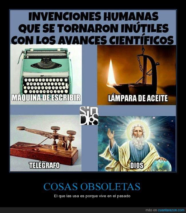 dios,invento,maquina de escribir,reflexión,religión,Telégrafo