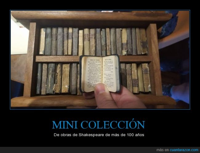 colección,librito,libros,literatura,mini,miniatura,William Shakespeare