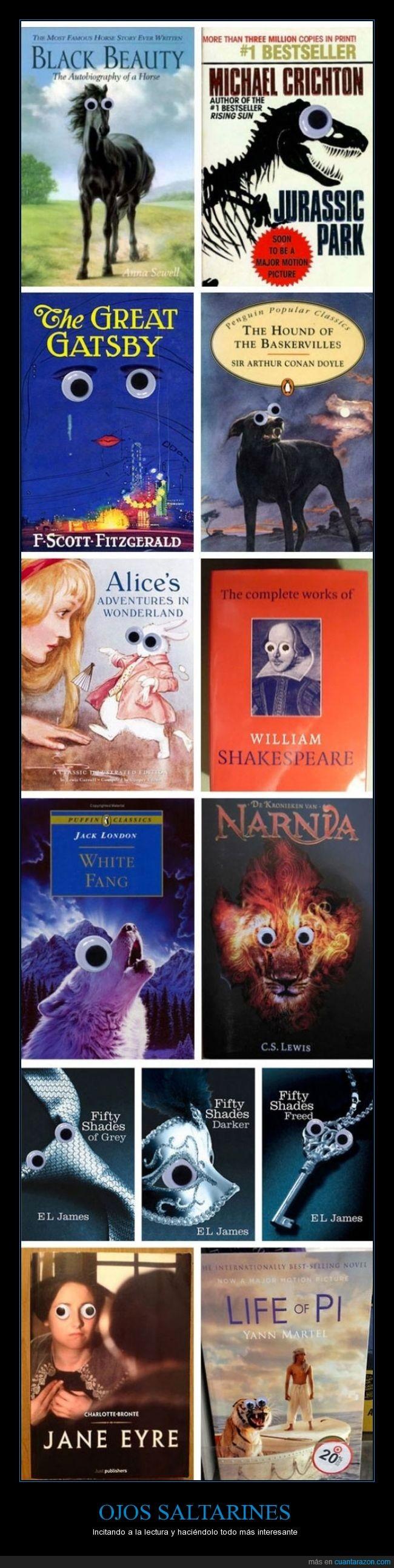 absurd,cara,eye,googly,libro,locura,ojo,pegatina,portada,saltarín