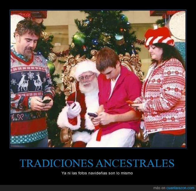 mirar,papá Noel,san Nicolas,Santa claus,smarthphone,telefono