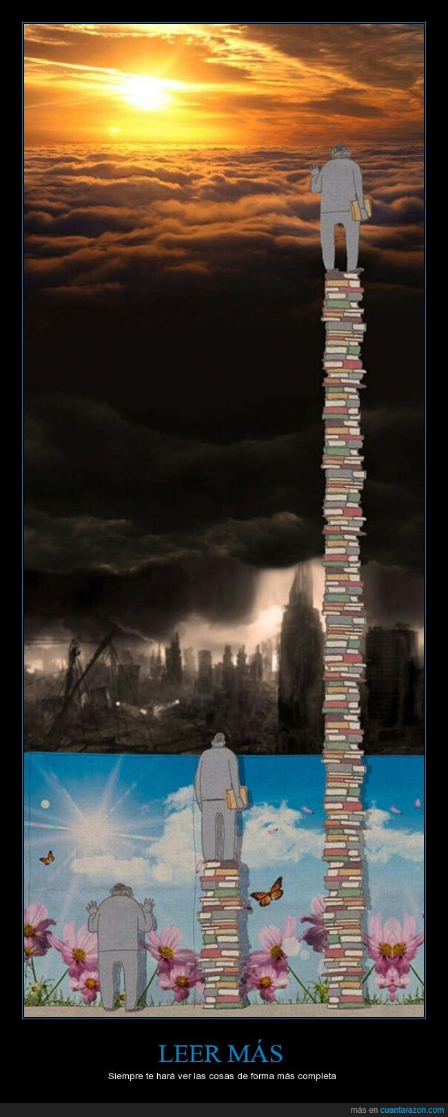 cielo,felicidad,instrucción,Lectura,leer,libros,mundo,reflexión,universo,vision