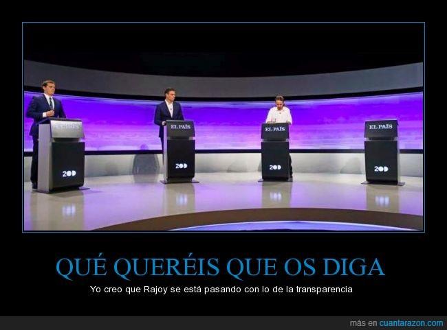 20D,a Rajoy se la pela,aparecer,debate
