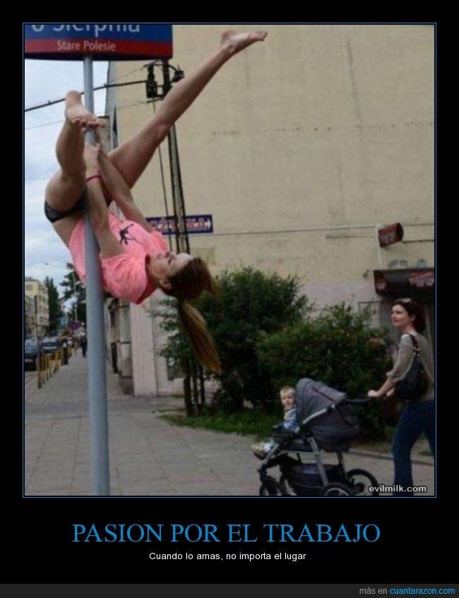 bailarina,Pasion,pole,trabajo