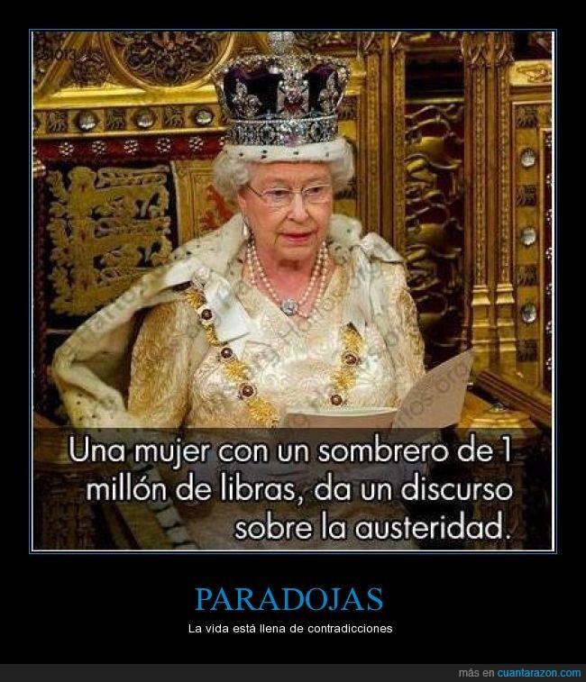 austeridad,corona,discurso,falsedad,god save the queen,hipocresía,joya
