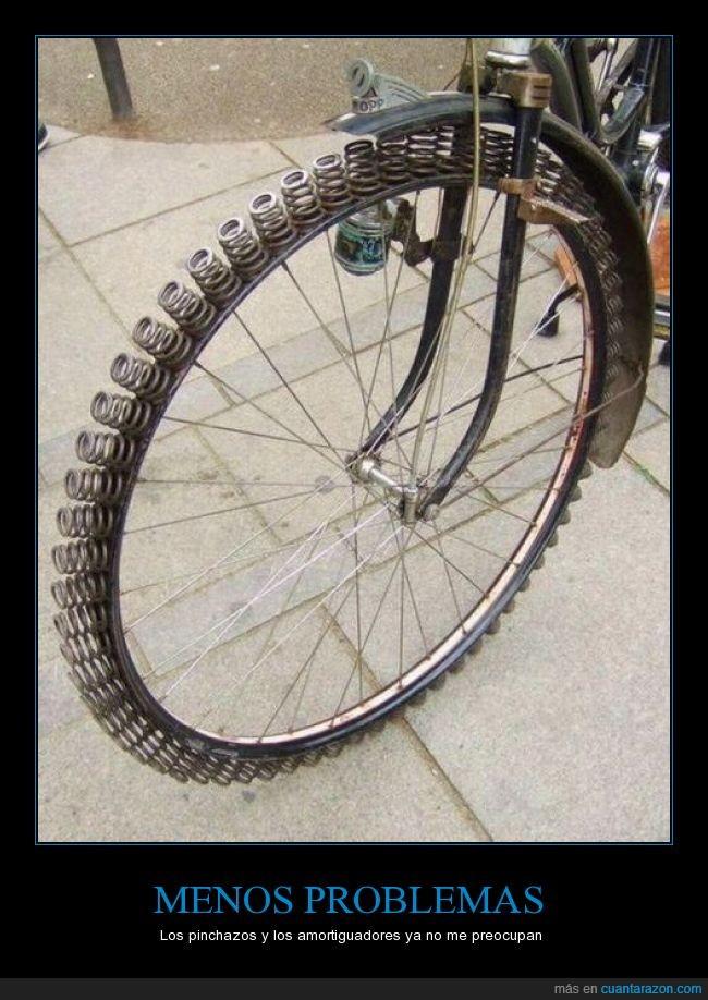 antipinchazos,bicicleta,llantas,muelle,resortes,rin,rueda,Ruedas