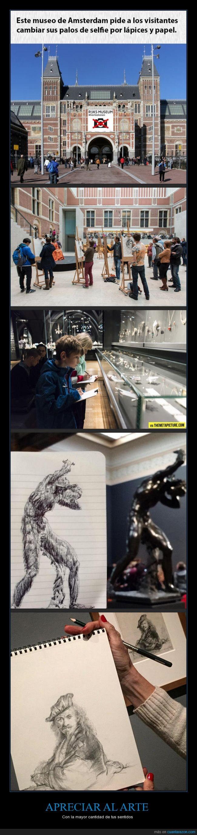 arte,dibujar,lapiz,museo,palo,papel,selfie