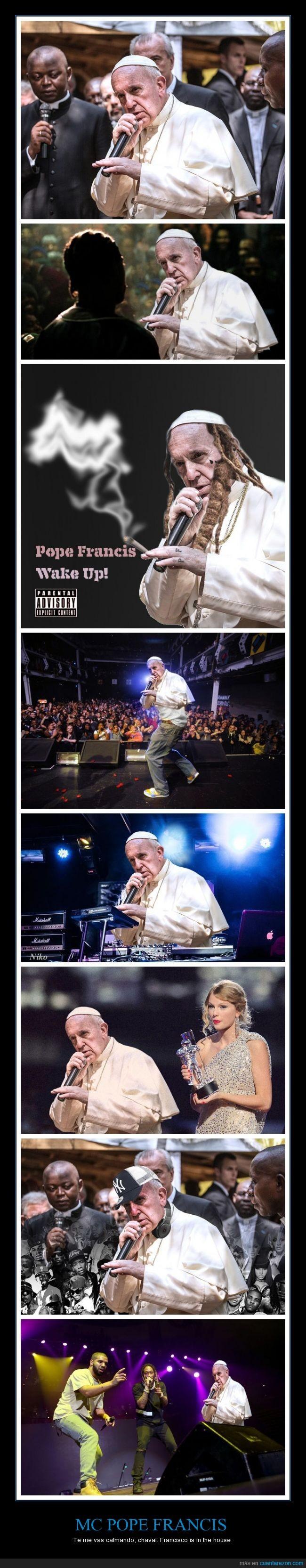 chop,francis,francisco,mc dinero,papa,pope,rap,rapero
