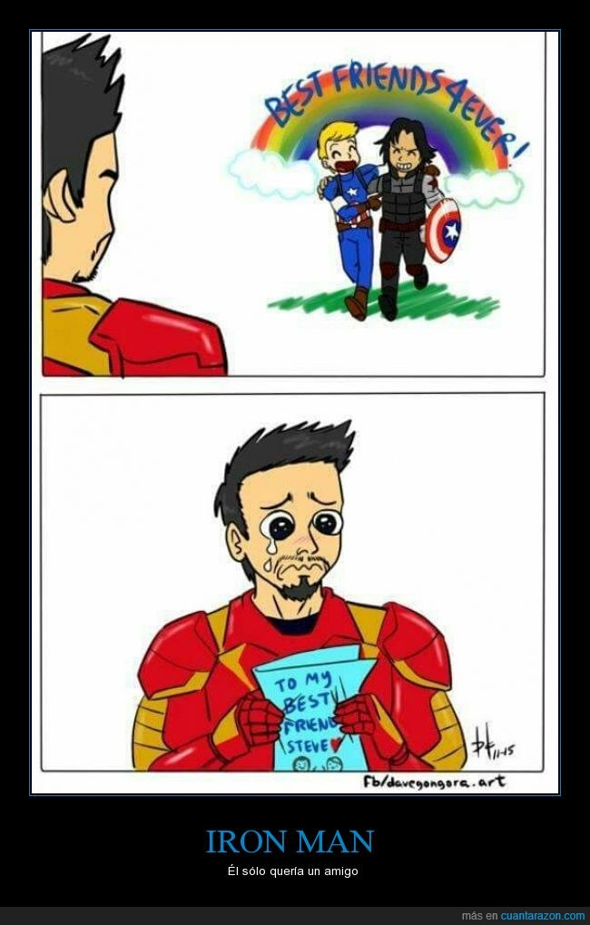 amigo,amistad,capitan america,civil war,iron man,ironman,Steve,tony stark