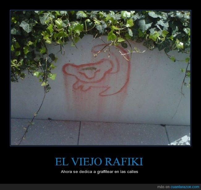 dibujo,El Rey Leon,graffiti,Rafiki,Simba