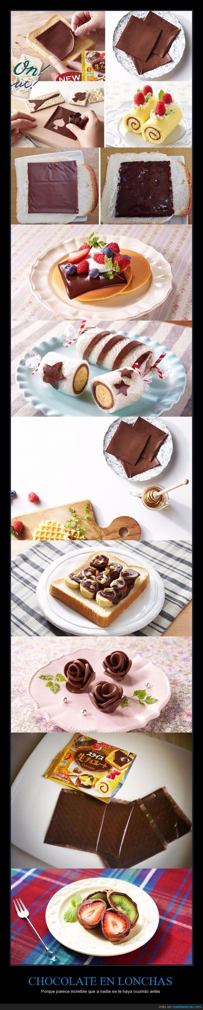 bocadillo,chocolate,Japón,lonchas,tiras
